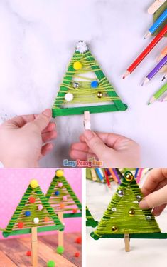 We've got another wonderful and quick Christmas craft to share with you, today we're making this simple craft sticks Christmas tree craft.