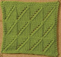 Learn about this wedges knitting stitch by Melissa J. Goodale called Lace Wedges…