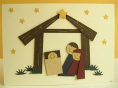 Punch Art Fun: Punch Art Fun - Look in the Book - pages 35 to 40 - the Christmas ones Diy Nativity, Christmas Nativity, A Christmas Story, Christmas Art, Christmas Holidays, Christmas Activities, Christmas Crafts For Kids, Christmas Decorations, Chrismas Cards