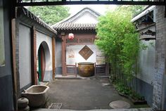 Mongol Chine: Beijing hutong. Traditional Chinese courtyard.