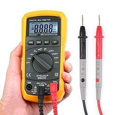 How to Use a Multimeter Basics : 8 Steps - Instructables Basic Electrical Wiring, Electrical Tester, Electrical Projects, Electrical Installation, Electrical Outlets, Measuring Instrument, Home Tech, Urban Survival, Home Repair
