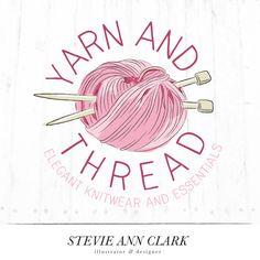 Hand Drawn Logo Design Customizable Premade by StevieAnnClark