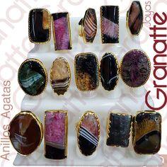 Anillos con piedras naturales - herraje goldfilled  #agatas #ágatas Visita nuestra tienda | Envíos a todo el país #piedraNatural #grutas #pink #sarta #piedras #joyas #anillos #dorado #abalonia #joyas #joyería #accesorios #fashion #collares #pulseras #acero #plata #goldfilled #moda #piedraNatural #outfit #regalo #pedreria #cristales #rings #colombia #bisutería