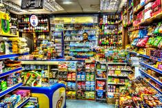 The corner shop Supermarket Design, Retail Store Design, Convience Store, Deli Shop, Shop Shelving, Grocery Items, Grocery Store, Store Layout, Tiny House Design