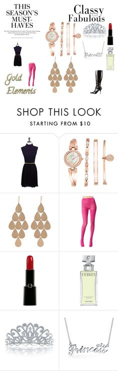 """8th Contest : Rose Gold Trends 20"" by chrisone ❤ liked on Polyvore featuring Alice + Olivia, Anne Klein, Irene Neuwirth, H&M, Betsey Johnson, Giorgio Armani, Calvin Klein, Bling Jewelry, Dolce&Gabbana and rosegold"