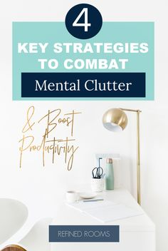 Overwhelmed with mental clutter? Read on to learn how to clear mental clutter and declutter your mind with 4 proven strategies. Getting rid of mental clutter reduces stress, increases productivity and helps you think more clearly Home Organization Hacks, Organizing Your Home, Organizing Tips, Organising, Declutter Your Mind, Home Selling Tips, Free Mind, Planning Your Day, Getting Organized