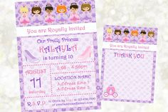 The 43 best princess theme party images on pinterest party themes items similar to princess birthday invitation princess party invitation princess theme invitation royal theme invitation princess digital invitation filmwisefo