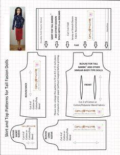 Image result for patterns barbie curvy