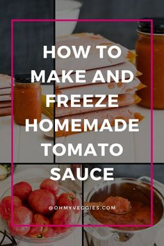 Preserve summer's bounty! It's easy to make and freeze this large-batch Italian tomato sauce to enjoy all fall and winter long. Italian Tomato Sauce, Homemade Tomato Sauce, Summer Tomato, Vegetarian Cooking, It's Easy, Freeze, Preserve, Make It Simple, Meal Planning
