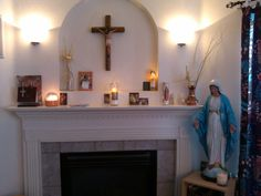 Our Catholic home altar.