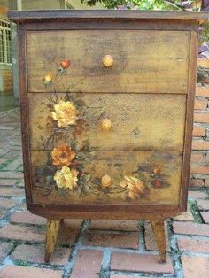 23 Furniture Ideas and Tips: Decoupage Decoupage. Tutorial for decoupage dresser at Martha Stewart here : www. Decoupage Dresser, Decoupage Furniture, Hand Painted Furniture, Funky Furniture, Refurbished Furniture, Paint Furniture, Repurposed Furniture, Furniture Projects, Furniture Makeover