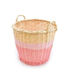 Rose in april- Panier, rangement. http://www.babayaga-magazine.com/rose-in-april/