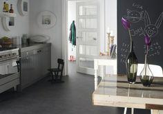 Future kitchen floor, Marmoleum Click in Volcanic Ash