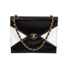 6f126d3917 Optical CHANEL Black and White Handbag Chanel Purse