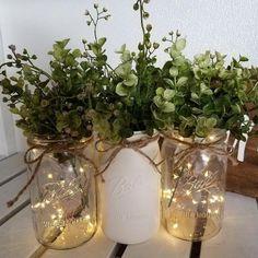Wedding Vases, Rustic Wedding Centerpieces, Diy Wedding Decorations, Decor Diy, Rustic Diy Wedding Decor, Gown Wedding, Wedding Centerpieces Mason Jars, Lace Wedding, Small Wedding Decor