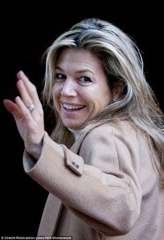 Late night? Normally preened to perfection, Queen Máxima of the Netherlands looked a tad d...