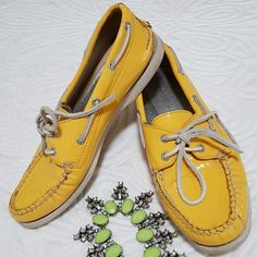 Yellow Sperry Top Side Worn only a handful of times! Sperry Top-Sider Shoes
