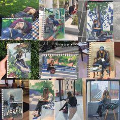 Heather Martin, gouache Nice Art, Cool Art, Gouache Painting, Painters, Illustration, Anime, Travel, Outdoor, Outdoors