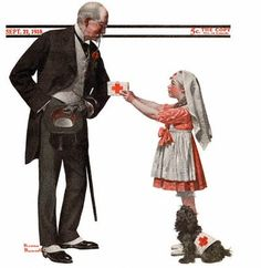 Red Cross Volunteer, the September 1918 Norman Rockwell Saturday Evening Post cover Norman Rockwell Figurines, Norman Rockwell Art, Norman Rockwell Paintings, Red Cross Volunteer, Vintage Nurse, Small Town America, Saturday Evening Post, American Red Cross, Illustrations And Posters