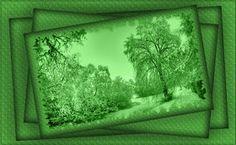 cuadro verde paisaje