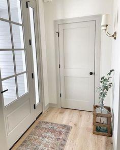 Farmhouse Interior Doors, Grey Interior Doors, Interior Door Colors, Painted Interior Doors, Grey Doors, Interior Trim, Interior Design, Interior Door Styles, Farmhouse Decor