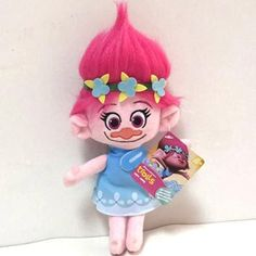 New Arrivals! 23cm The good luck Trolls Doll Poppy Branch plush toys Grils' dolls gifts for Children(free to Russia)