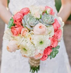 Simply Succulent | Simply Beautiful Weddings & Events Bride, bridesmaid bouquet, succulent Brushfire Photography, organic