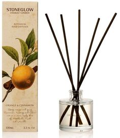 Stoneglow Botanical Collection Reed Diffuser - Cinnamon and Orange