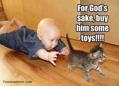 ...buy him some toys!!!
