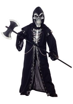 this crypt master kids skeleton costume is truly spooky is he trying to collect unfortunate