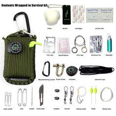 9 en 1 SOS Kit Outdoor équipement d/'urgence Boîte Pour Camping Survival Gear Kit UK