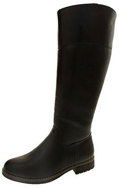 07332cb5540 Keddo Ladies Black Faux Leather Knee High Winter Boots US 5 ** Be sure to