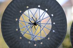 spider web crafts for kids | No Wooden Spoons: Paper Plate Spiderwebs {Kid Craft}