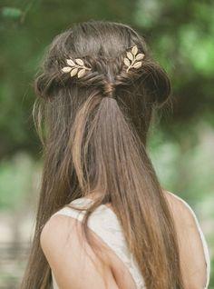 wedding hairstyle: Echo and Laurel via Etsy