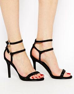 Enlarge Miss KG Emelie Black Barely There Heeled Sandals #nakedsandals #heels # black