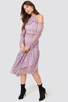 Cold Shoulder Dress NA-KD.COM