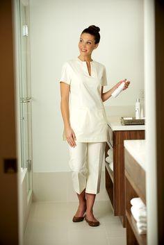 Our Mira Tunic is now in stock! Fashionizer Spa Uniforms | White Tunic