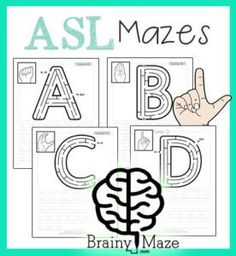Studying ASL or just want a fun way to review the alphabet? Check out these free, printable mazes! :: www.thriftyhomeschoolers.com