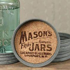 Diy Hanging Shelves, Diy Wall Shelves, Mason Jar Projects, Mason Jar Crafts, Jar Lid Crafts, Diy Home Decor Projects, Diy Projects To Try, Craft Projects, Sewing Projects