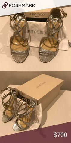745c9a1e89a Jimmy Choo shoes size 36 - never worn Jimmy Choo silver shoes in size 36.  Never worn before. Perfect condition with dust bag and box and receipt.