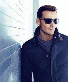 Alex Lundqvist Poses for Boss Black Fall Winter 2013 Eyewear Campaign.  HomensÓculos De Sol Ray Ban ... 6ddeeec078