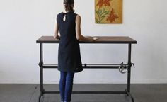 Standing Desk from OhioDesign.com in San Francisco.    Seen onRemodelista: Sourcebook for Considered Living