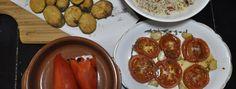 Spain vs Korea Recipes Face-Off: Small Plates: Spain Tapas vs Korea Banchan! Spain Vs, Fried Zucchini, Rice Salad, Roasted Tomatoes, Small Plates, Chicken Wings, Tapas, Spicy, Goodies