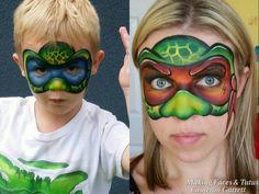Ninja Turtle Face Painting Tutorial