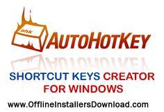 AutohotKey windows macro recorder, Keyboard shortcut creator