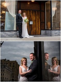 We love The Box's location in the heart of downtown. One of our top new Milwaukee wedding venues! Photos by Jadon Good Photography / Dress by Miss Ruby / Menswear by Stone Manor Bridal