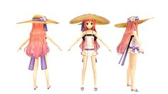 3D Model Game Character    アーシャのアトリエ  Modeler:Metasequoia  Texture:PaintToolSAI Photoshop By SIGE(Lead)
