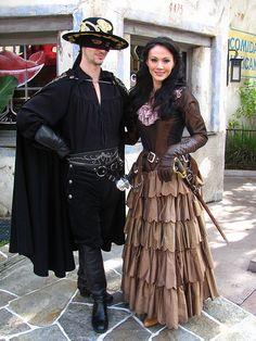 Zorro and Elena costume idea