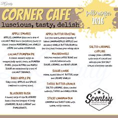 SCENTSY - SCENTS CORNER CAFE FALL/WINTER 2016 FLYER BY: Brittany Gerrity Admin Of: No-Nonsense Canadian Flyer Sharing Group On Facebook www.brittanygerrity.scentsy.ca
