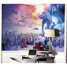SKU #: RZM1933  Room Mates XL Murals Star Wars Full Cast Chair Rail Wall Decal